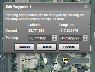 Modify existing waypoint